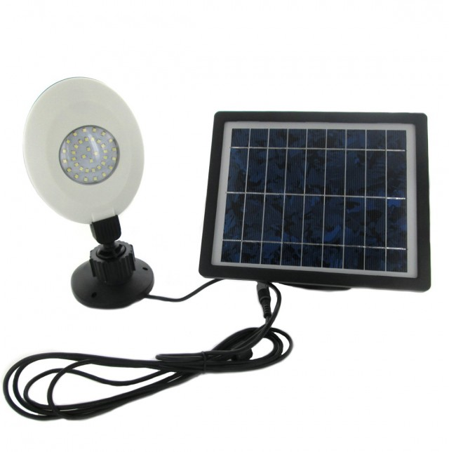 Solar Powered Porch Light With 36 Leds & Motion Sensor