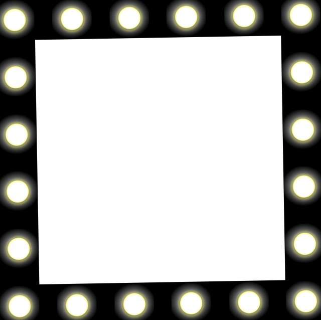 Vanity Mirror With Lights Vector