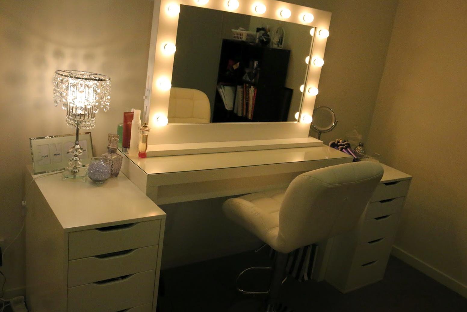 Vanity With Lights Around Mirror Ikea