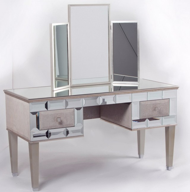Vintage Vanity Desk With Mirror
