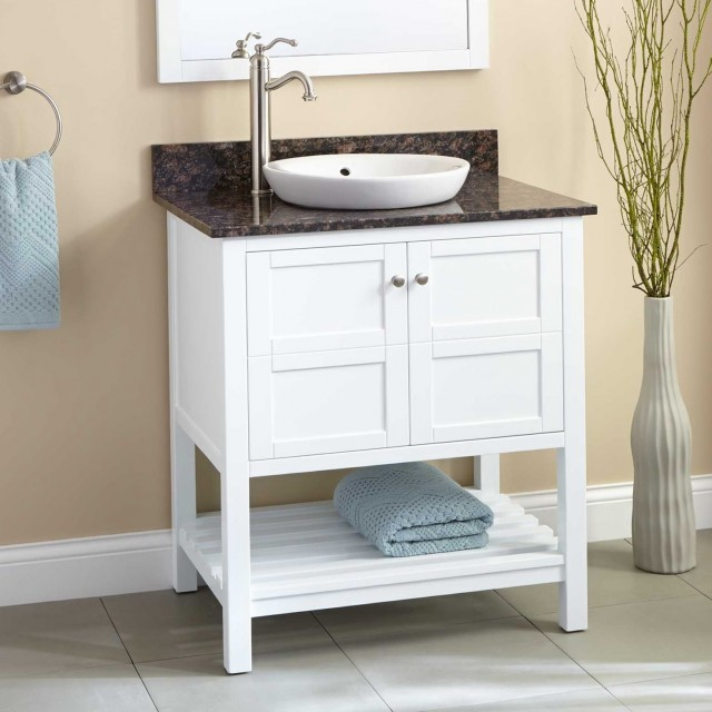 White 30 Bathroom Vanity