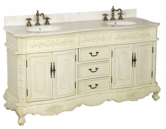 White Antique Bathroom Vanity