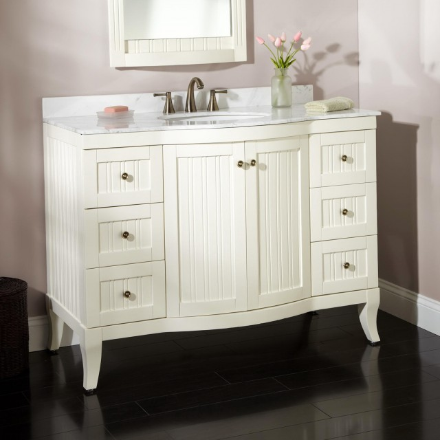 White Bath Vanities With Tops