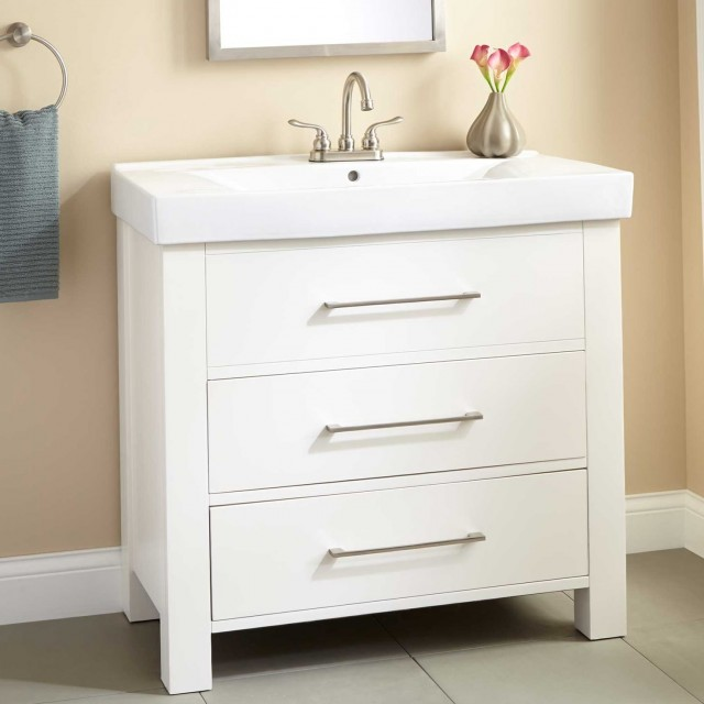 White Bathroom Vanity 36