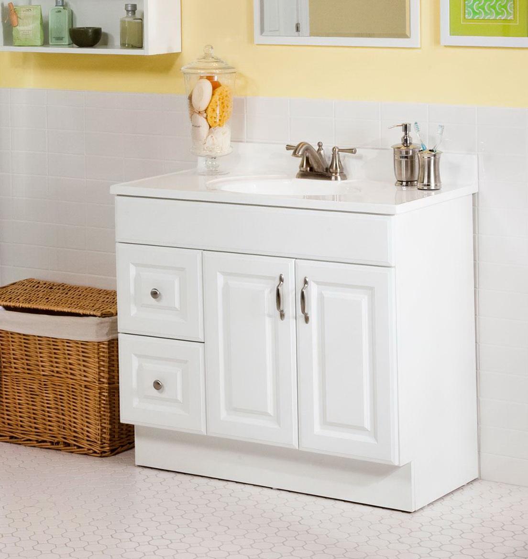 White Bathroom Vanity With Top