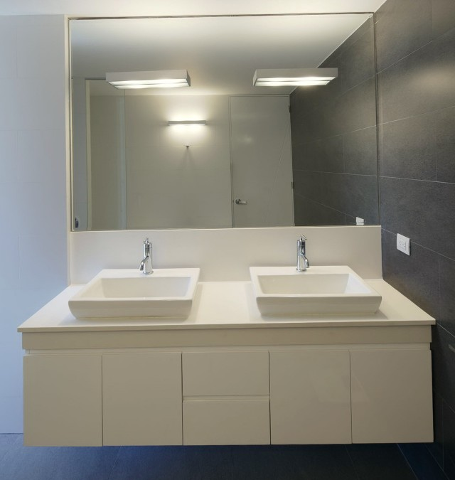White Floating Bathroom Vanity