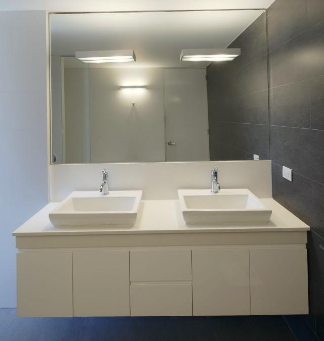 White Floating Bathroom Vanity