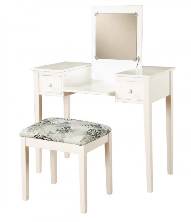 White Vanity Table Set