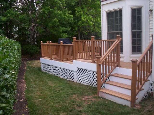 Wood Front Porch Railing