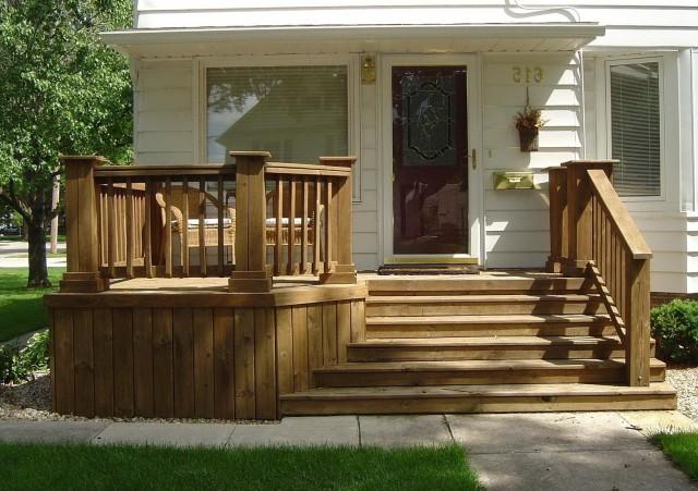 Wood Front Porch Steps