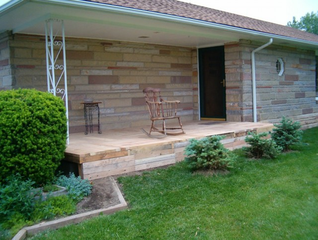 Wood Front Porch Steps Designs