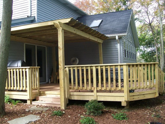 Wood Porch Railing Designs