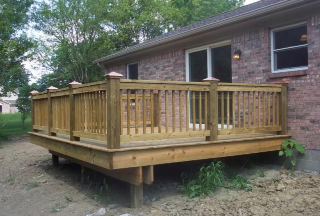 Wood Porch Railing Home Depot