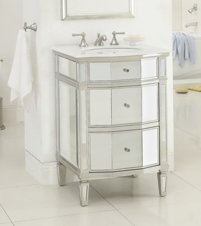 30 Inch Mirrored Bathroom Vanity