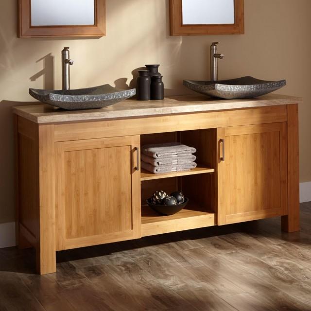 60 Double Sink Vanity With Granite Top