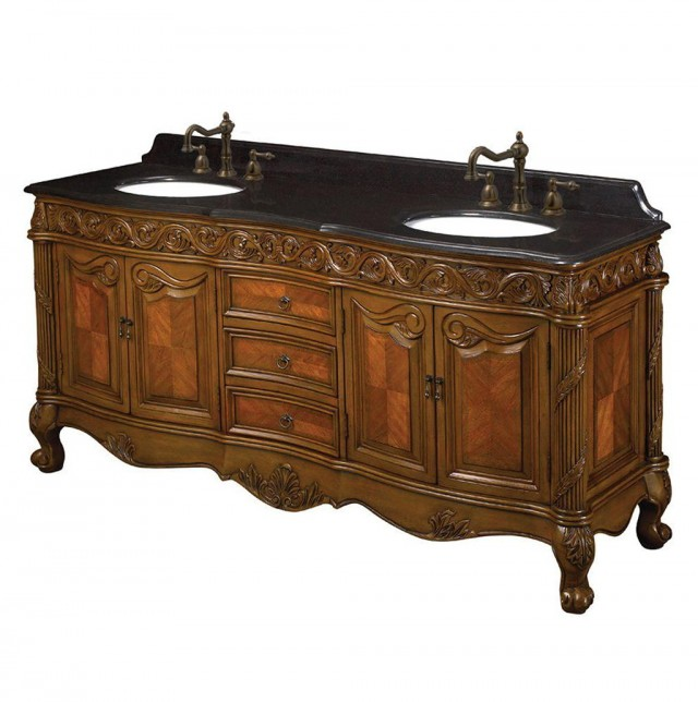 72 Double Sink Vanity Granite Top
