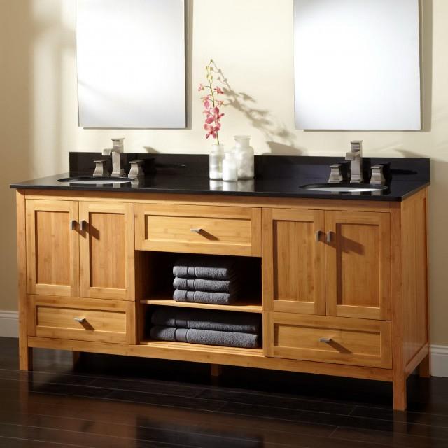 72 Vanity Cabinet Double Sink