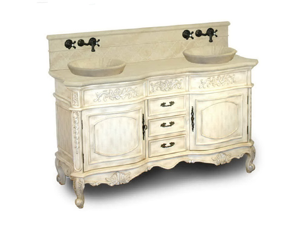 Antique Double Sink Bathroom Vanities