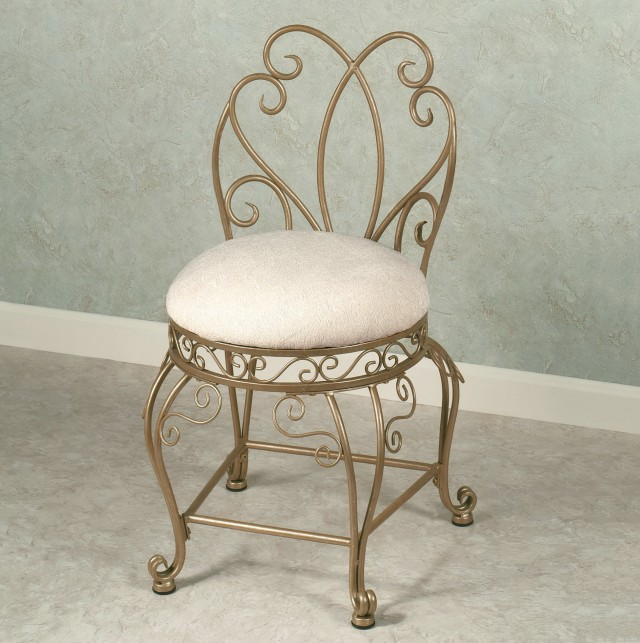 Bathroom Vanity Stool With Back