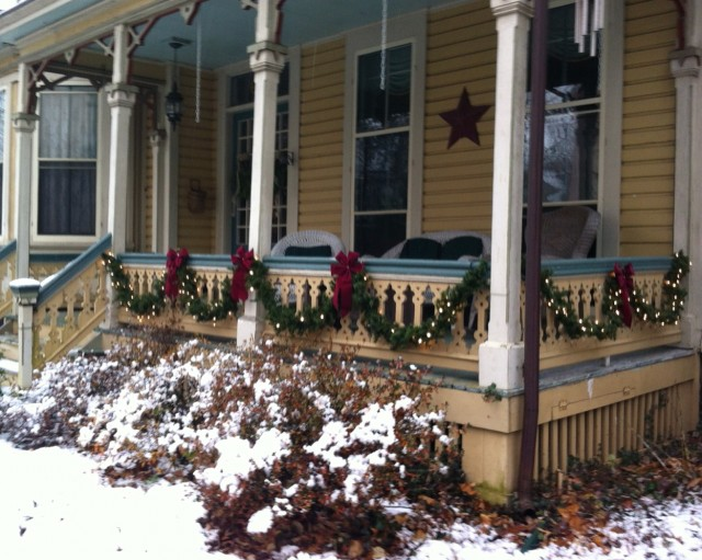 Beautiful Christmas Front Porches