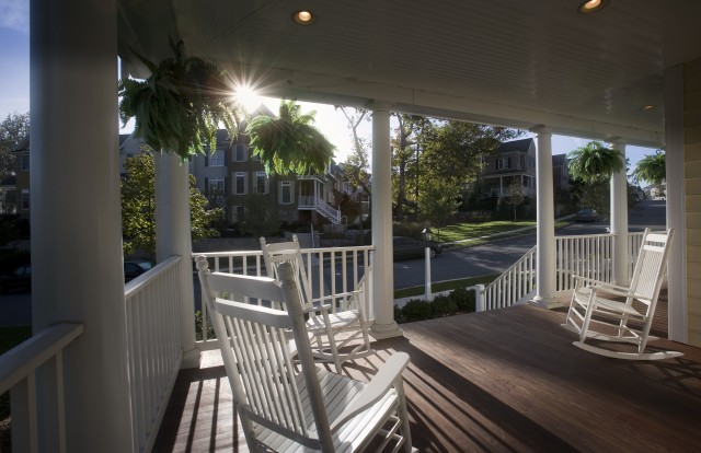 Beautiful Fall Front Porches