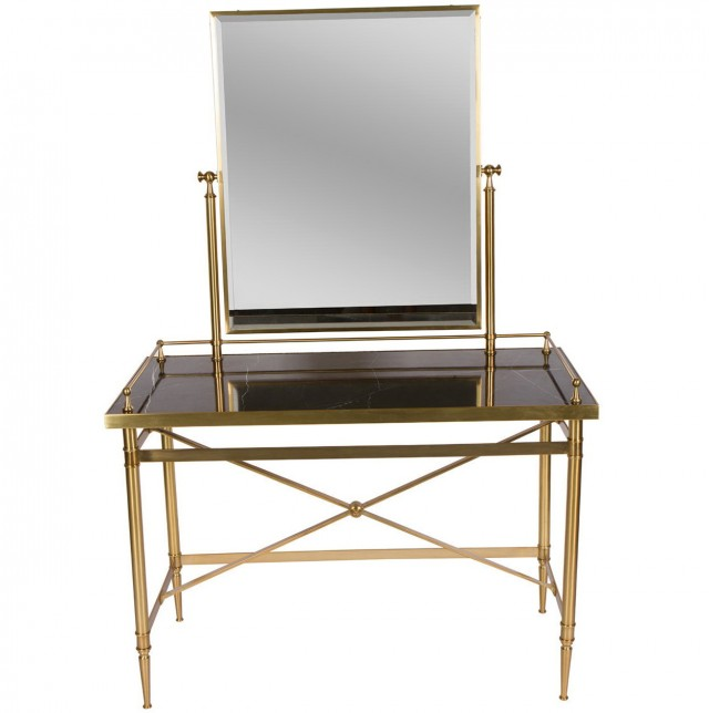 Brass And Glass Vanity Table