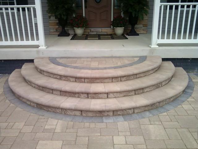 Brick Steps To Wood Porch