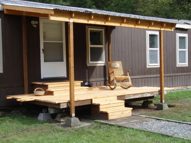 Building A Covered Porch On A Mobile Home