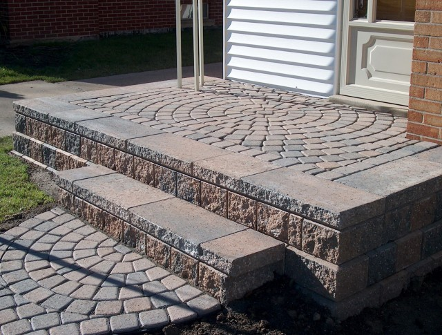 Building Porch Steps With Pavers