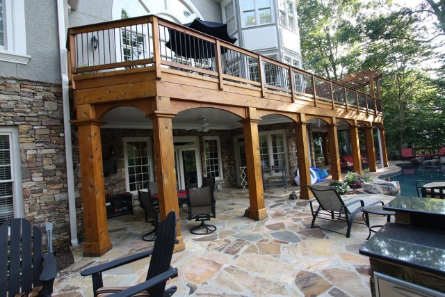 Cedar Wrapped Porch Columns