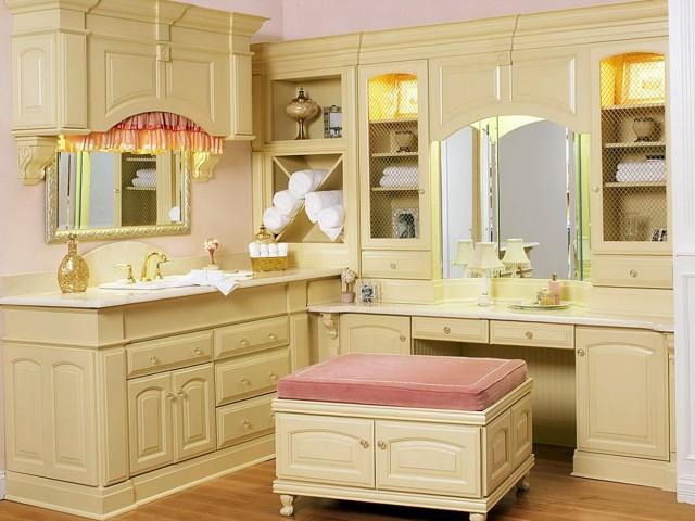 Corner Bathroom Makeup Vanity