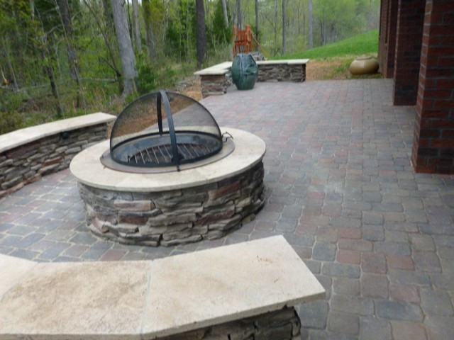 Covered Porch Fire Pit