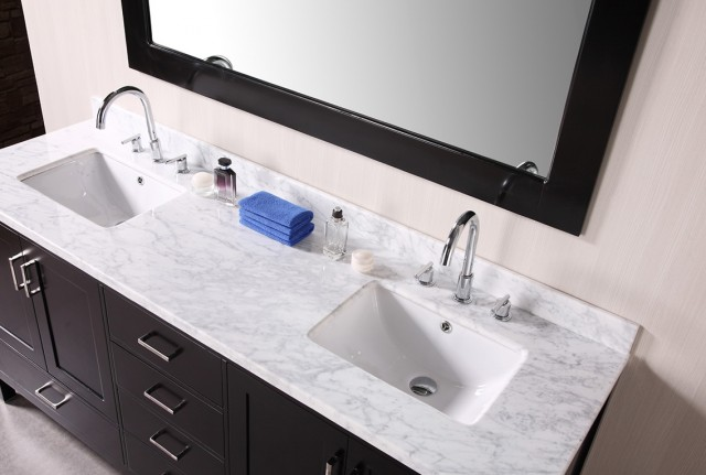 Cultured Marble Vanity Top Double Sink