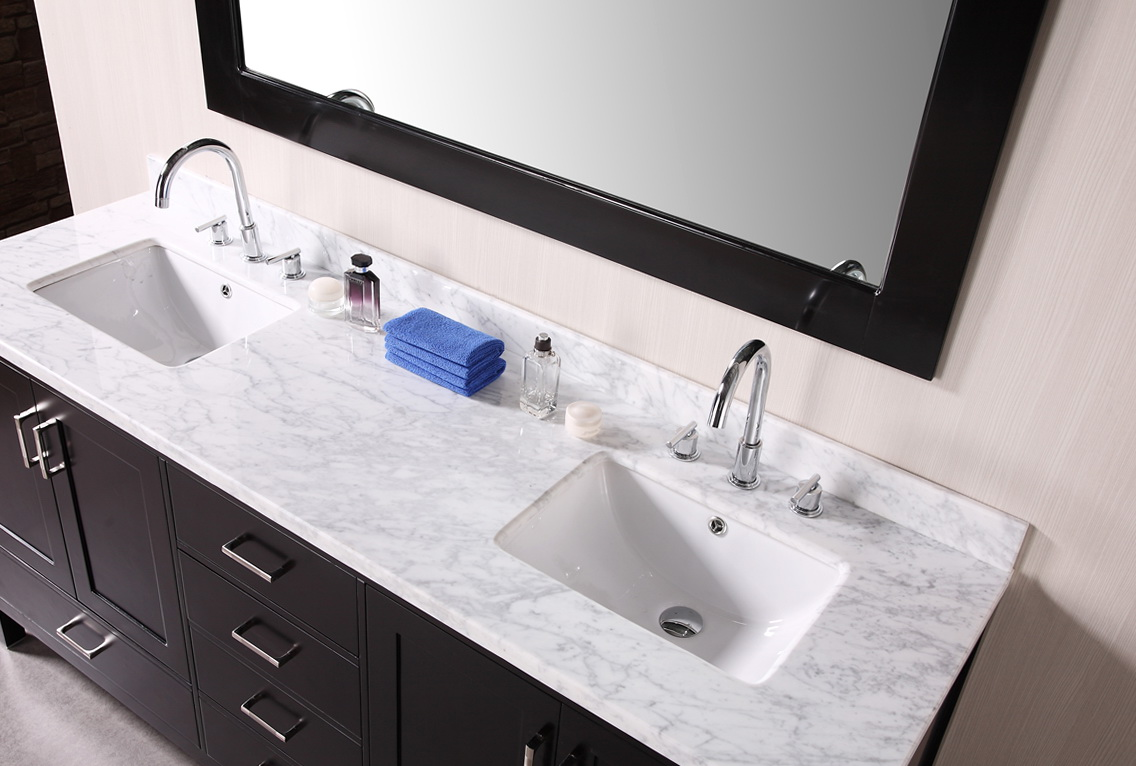 Cultured Marble Vanity Top Double Sink