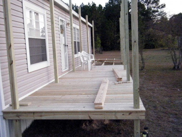 Double Wide Mobile Home Front Porch