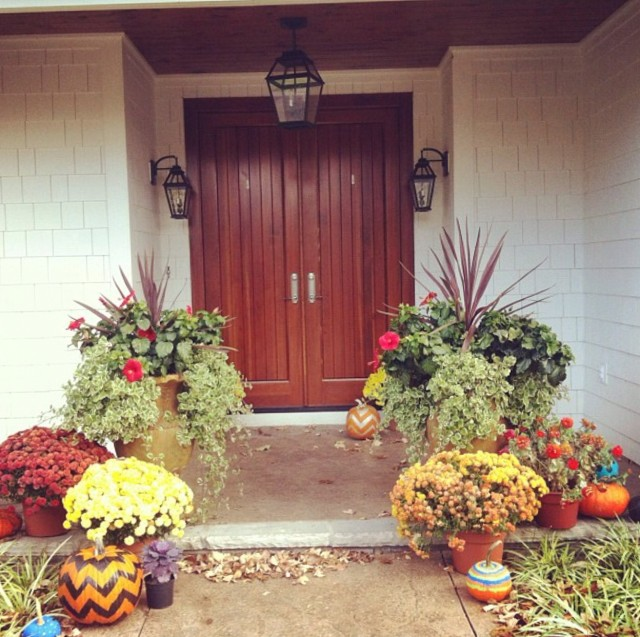 Fall Front Porch Decorating Pictures