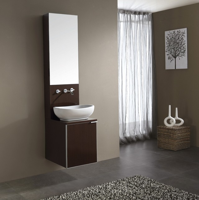 Floating Vanity With Vessel Sink