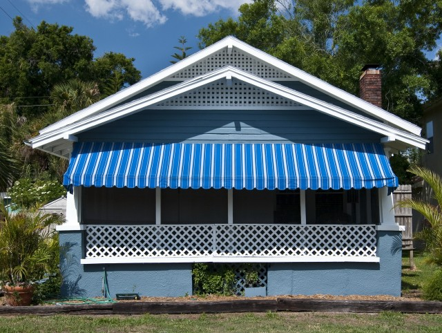 Front Porch Awning Replacement