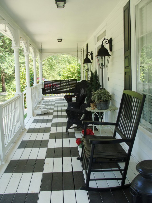 Front Porch Flooring Designs