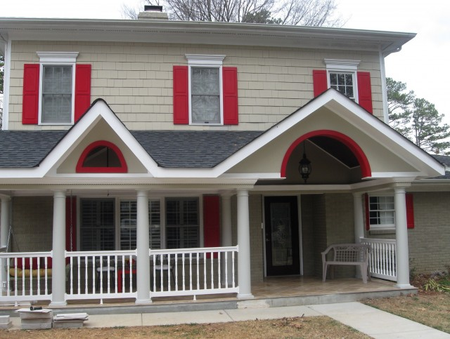 Front Porch Round Columns