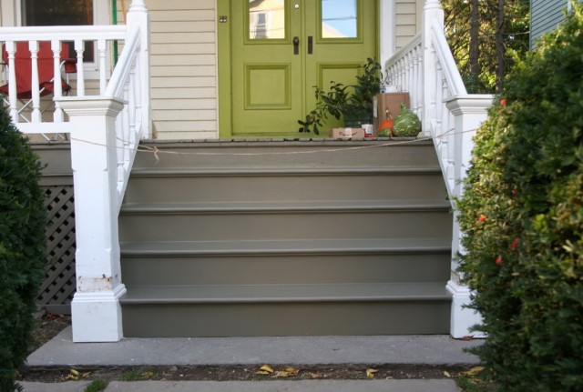 Front Porch Stairs Construction