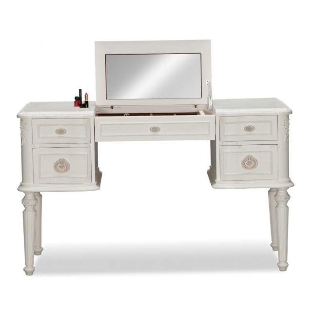 Girls White Vanity Desk