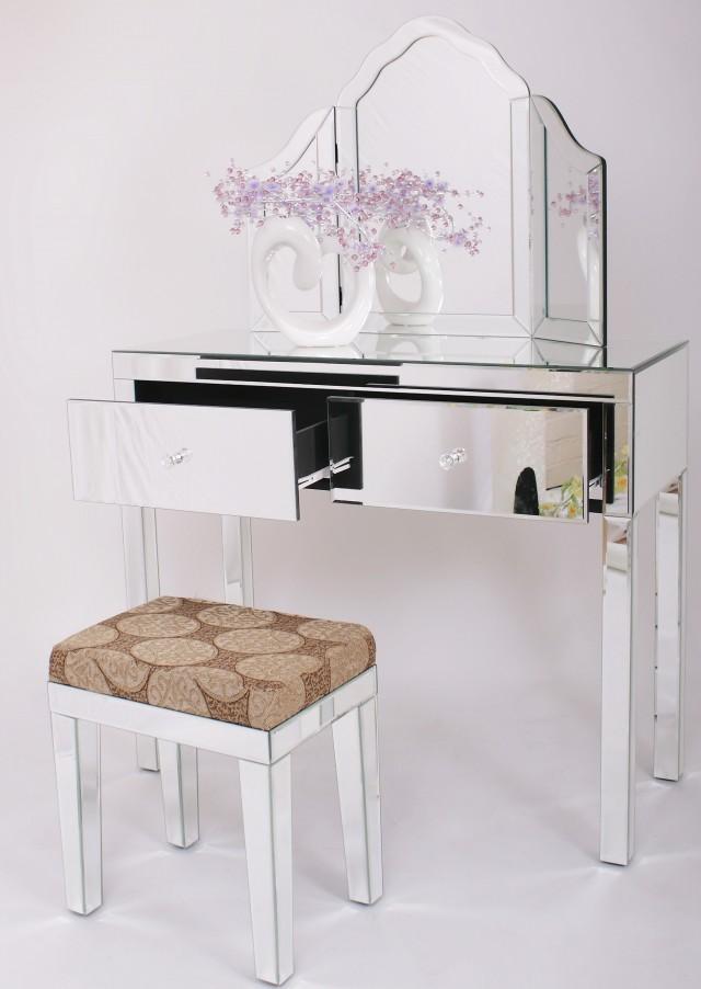 Glass Vanity Table Set