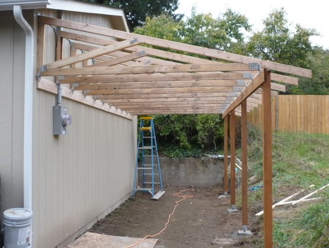 Lean To Porch Roof Construction