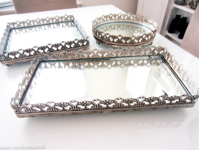 Mirrored Vanity Tray For Dresser