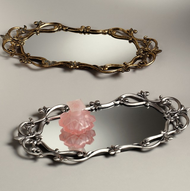 Mirrored Vanity Trays Perfume