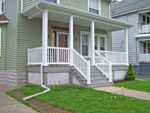 Modern Front Porch Railing