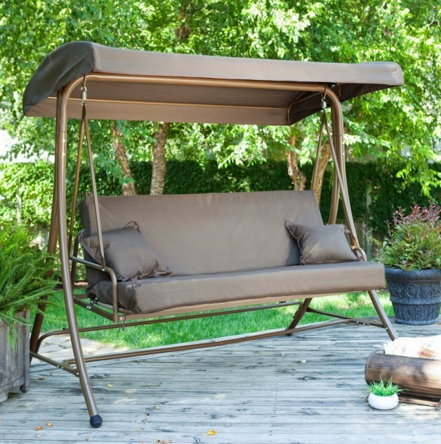 Porch Swing With Canopy