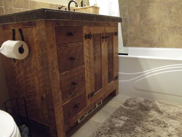 Reclaimed Wood Bath Vanity