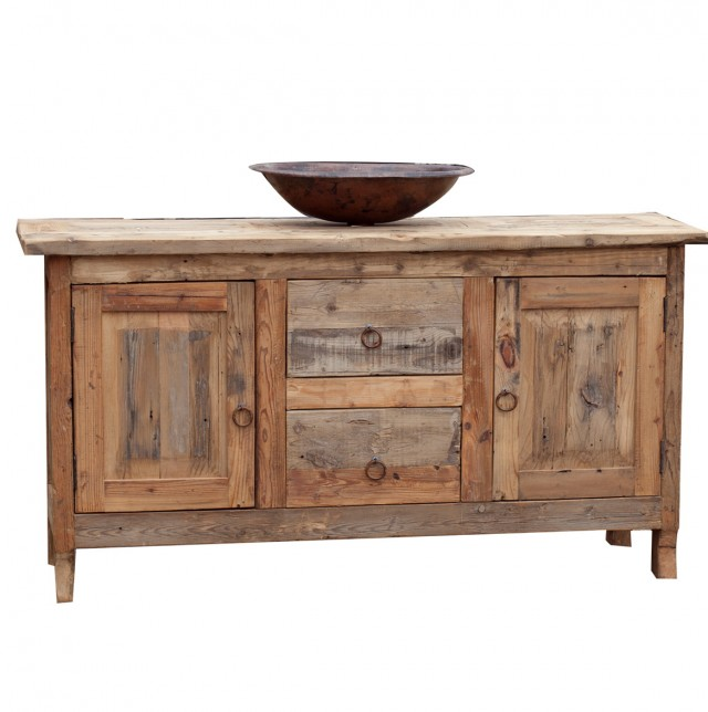 Reclaimed Wood Bathroom Vanity For Sale